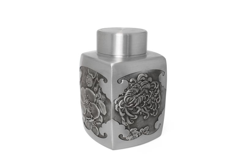 Bình đựng trà pewter Mai – Lan – Trúc – Cúc